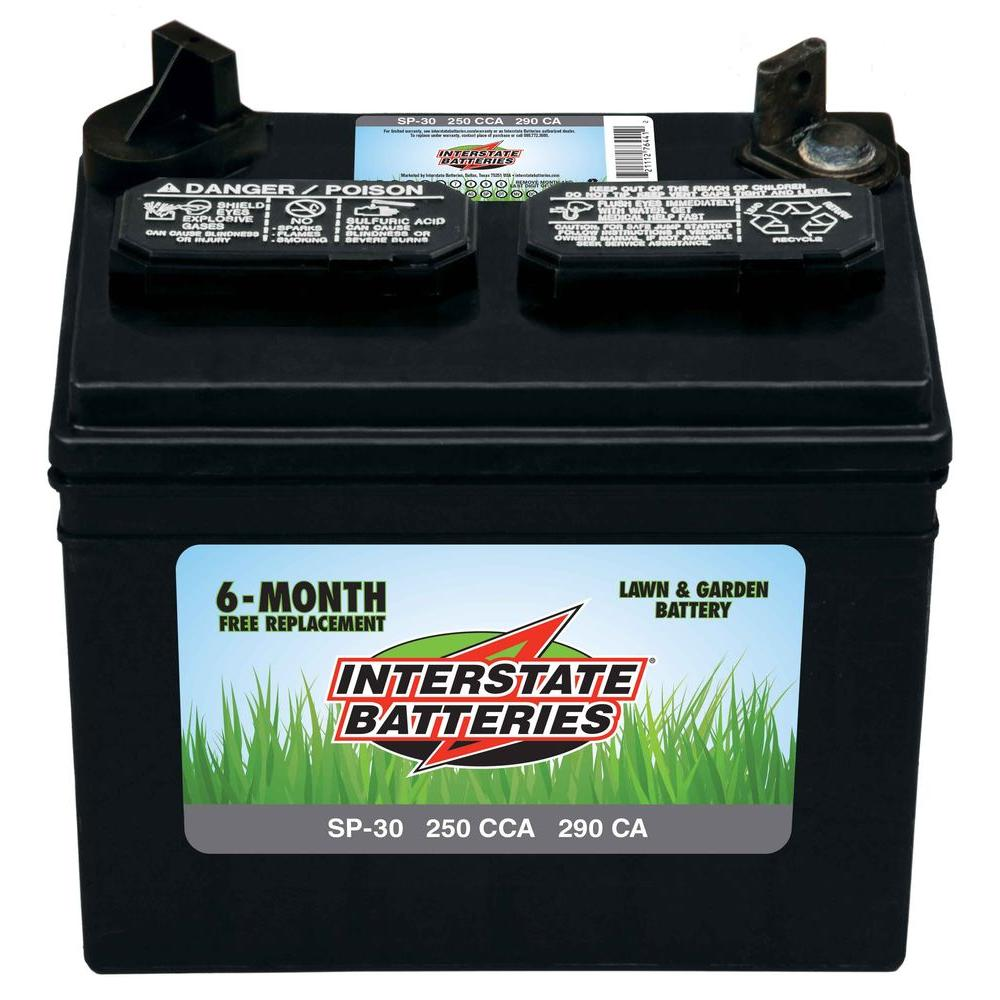 Interstate Battery 250 Cca Tractor Mower Battery Sp 30