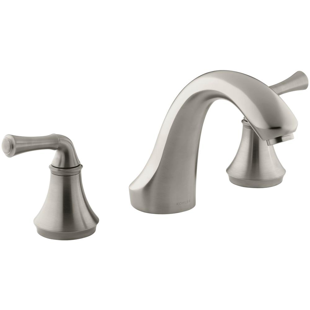 Forte 8 in. 2-Handle Bath-Mount/Deck-Mount Bathroom Faucet Trim Kit in Brushed
