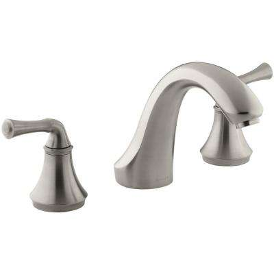 Forte 8 in. 2-Handle Bath-Mount/Deck-Mount Bathroom Faucet Trim Kit in Brushed Chrome (Valve Not Included)