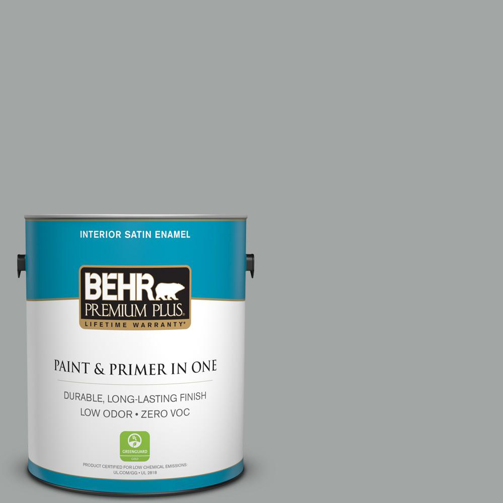 1 gal. #PPU25-04 Sharkskin Suit Zero VOC Satin Enamel Interior Paint