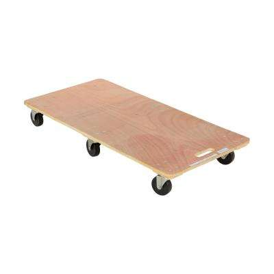 24 in. x 48 in. 1,200 lb. 6-Wheel Solid Deck Hardwood Dolly