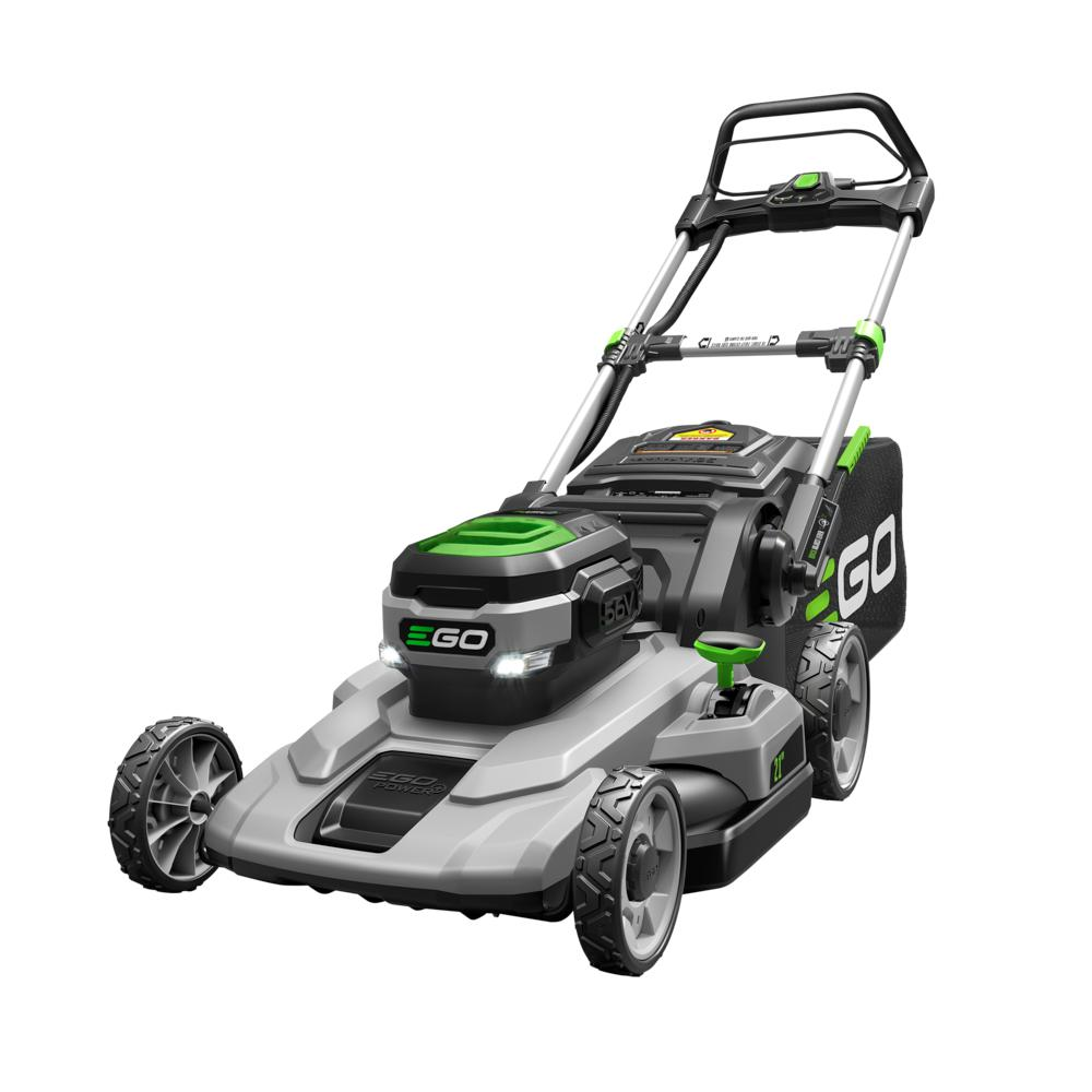 EGO 21 in. 56V Lithium-Ion Cordless Electric Walk Behind Push Mower, 5.0 Ah Battery and Charger Included