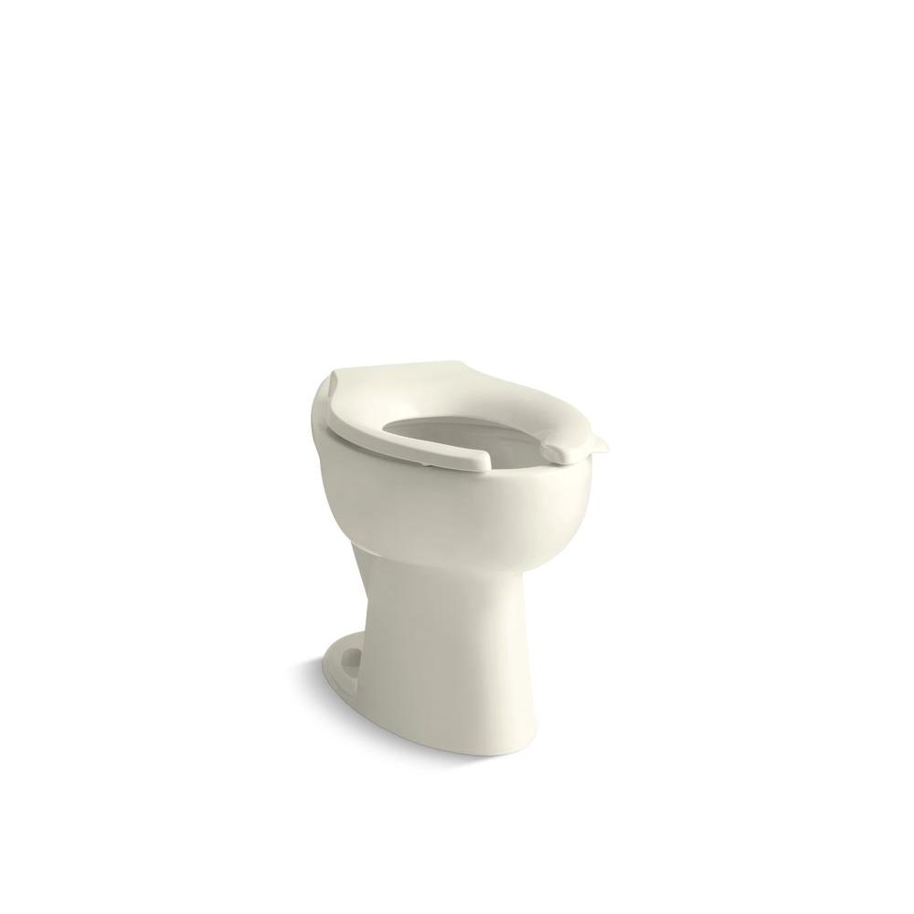 KOHLER Highcrest Elongated Toilet Bowl Only in Biscuit