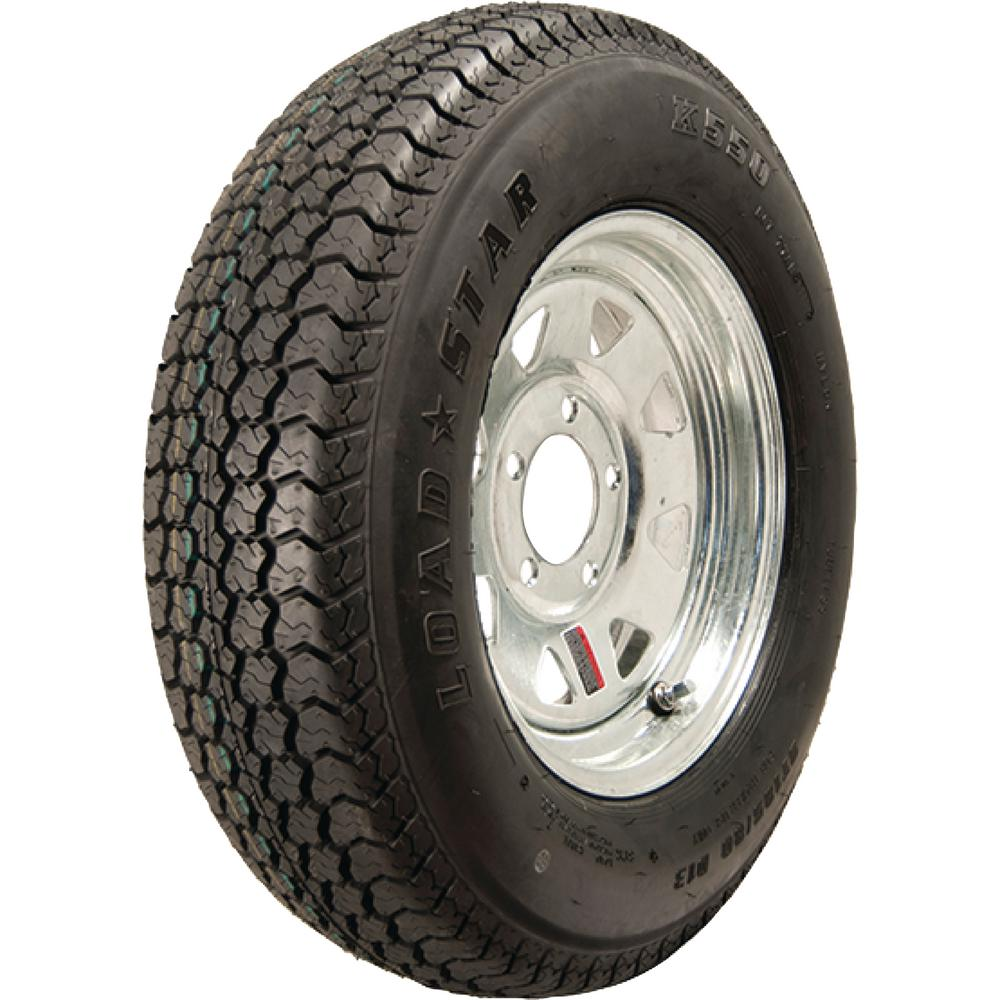 Loadstar ST215/75D-14 K550 BIAS 1870 lb. Load Capacity Galvanized 14 in. Bias Tire and Wheel Assembly
