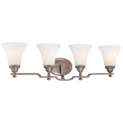 Wellington Ave Midnight Gold Sconce with Etched White Glass Shade