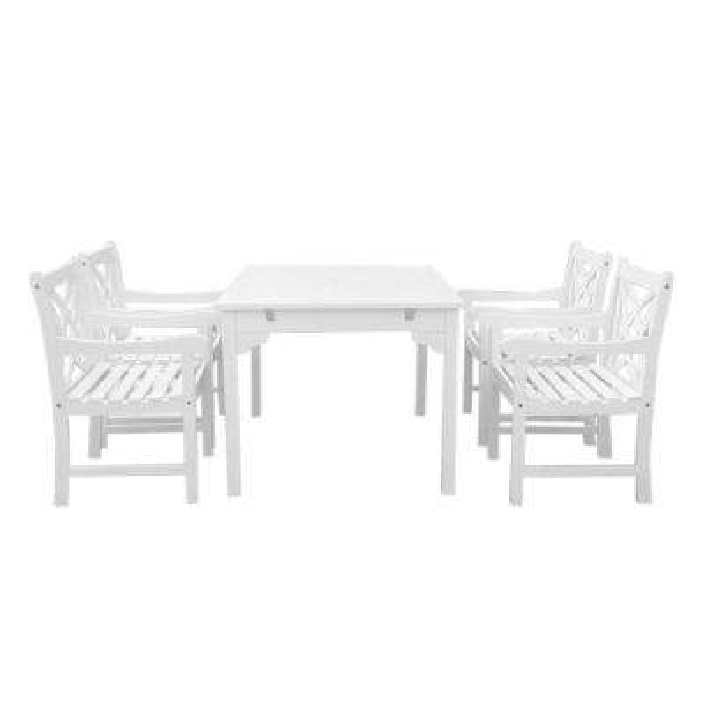 Bradley 5-Piece Rectangle Patio Dining Set