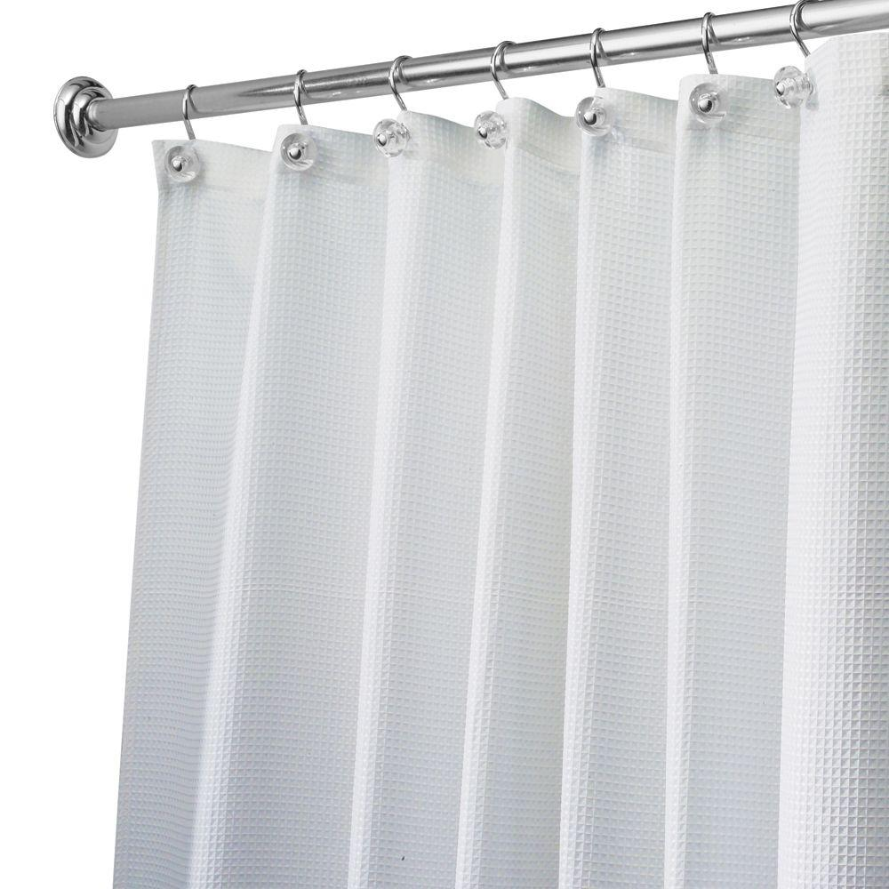 Carlton Shower Curtain in White