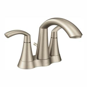 Glyde 4 in. Centerset 2-Handle High-Arc Bathroom Faucet in Brushed Nickel