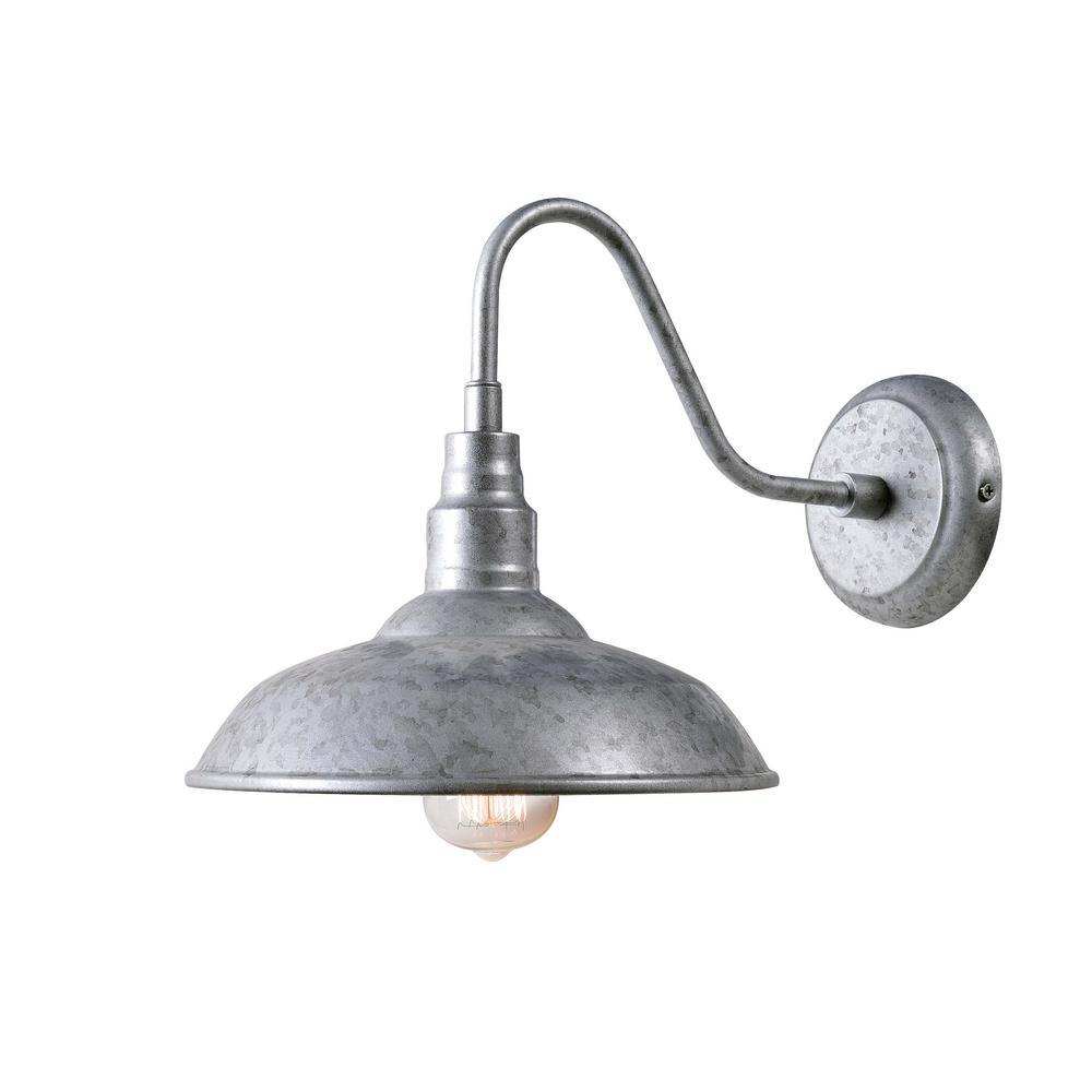 Dale 1 Light Galvanized Outdoor Lantern
