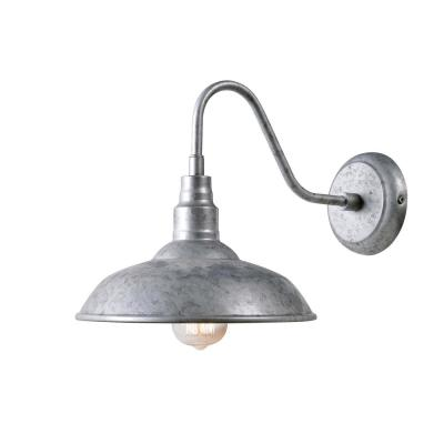 Dale 1 Light Galvanized Outdoor Wall Lantern Sconce
