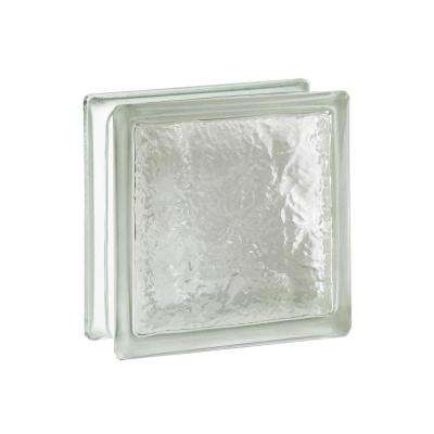 Cortina 7.75 in. x 7.75 in. x 3.875 in. Ice Pattern Glass Block (8-Pack)