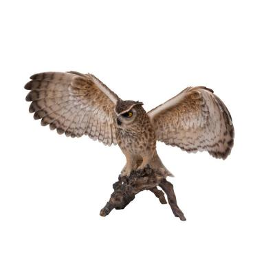 Eagle Owl on Branch Statue