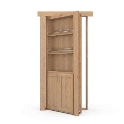 36 in. x 80 in. Flush Mount Assembled Forward Pantry Door Alder Unfinished Left-Hand Inswing