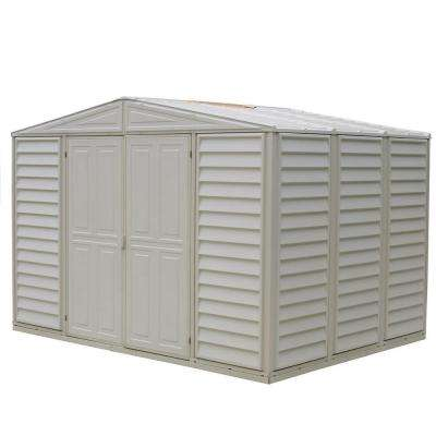 Woodbridge 10.5 ft. x 7.9 ft. Vinyl Shed with Foundation Frame