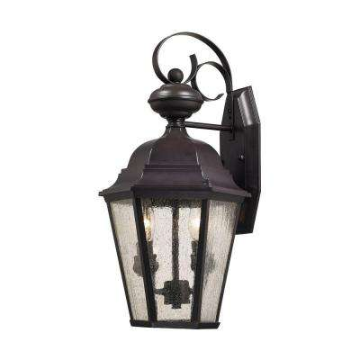 Cotswold 2-Light Oil Rubbed Bronze Outdoor Wall Lamp