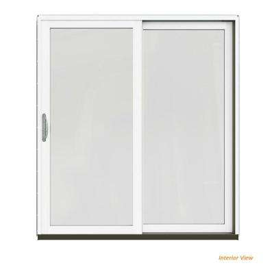 72 In. X 80 In. W 2500 Contemporary White Clad Wood Right