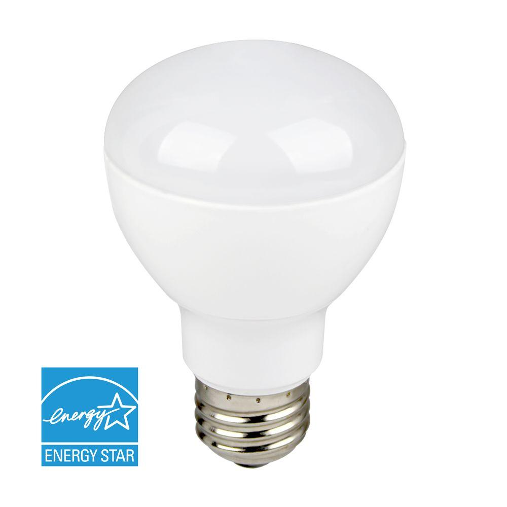 Euri Lighting 45W Equivalent White R20 Dimmable LED Directional Flood Light Bulb