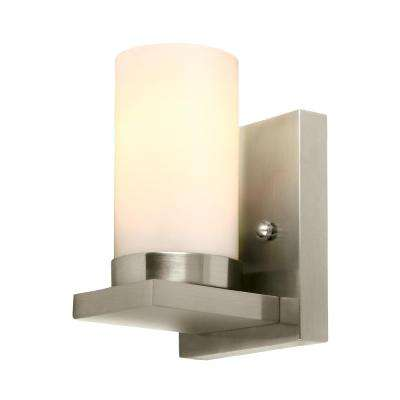 Ellington 1-Light Brushed Nickel Bath Light