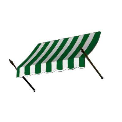 3 ft. New Orleans Awning (56 in. H x 32 in. D) in Forest/White Stripe