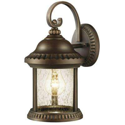 Cambridge Collection 1-Light Bronze Outdoor Essex Small Wall Mount Lantern