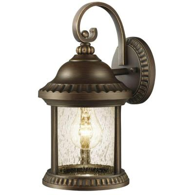 Cambridge Collection 1-Light Bronze Outdoor Essex Wall Lantern Sconce