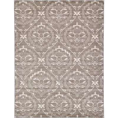 Damask Light Brown 9' x 12' Rug