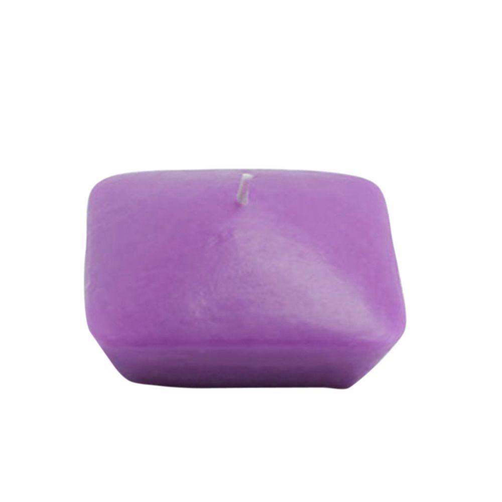 Zest Candle 3 in. Purple Square Floating Candles (6-Box)