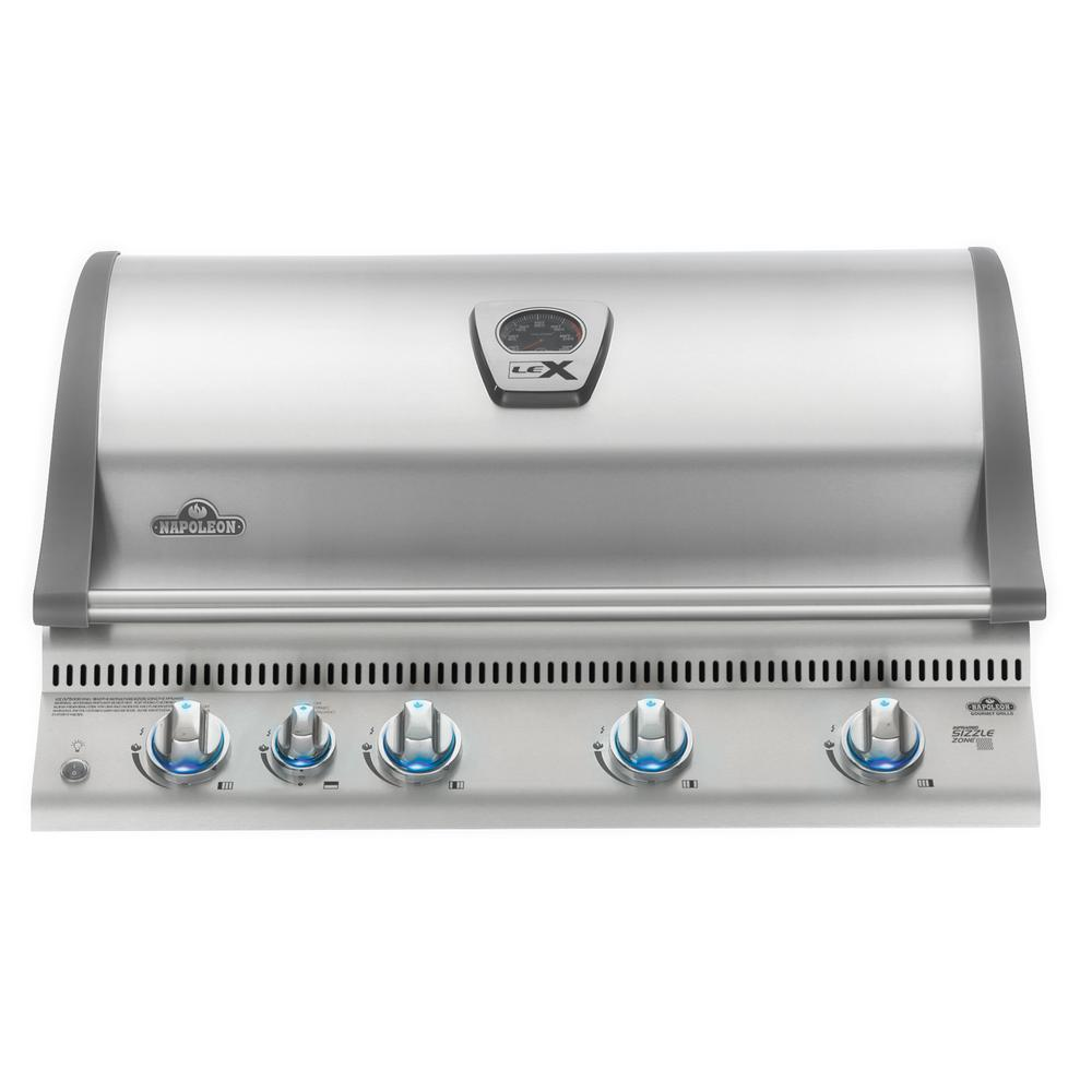 NAPOLEON Built-in LEX 605 with Infrared Bottom and Rear Burners Natural Gas  Grill in