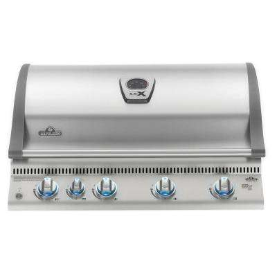 Built-in LEX 605 with Infrared Bottom and Rear Burners Natural Gas Grill in Stainless Steel
