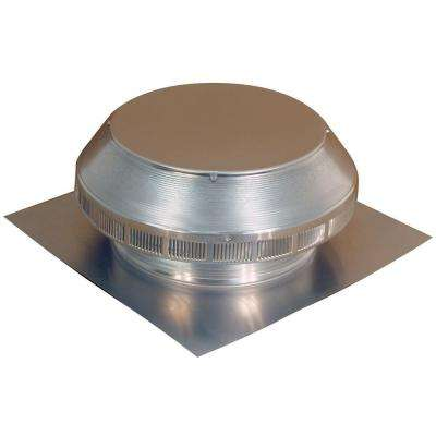 12 in. Dia Aluminum Roof Louver Exhaust Vent in Mill Finish
