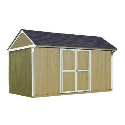 Lexington 12 ft. x 8 ft. Wood Storage Shed with Floor