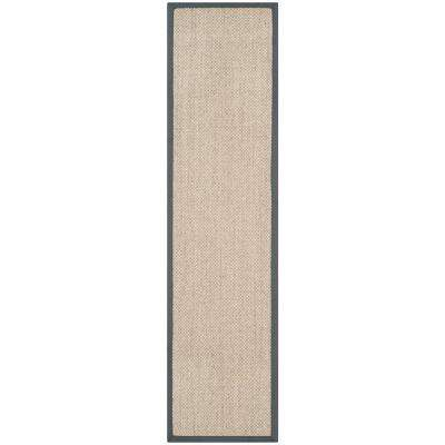 Natural Fiber Marble/Grey 2 ft. x 10 ft. Runner Rug