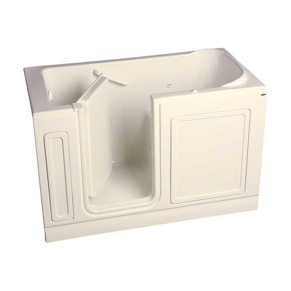 American Standard Acrylic Standard Series 60 in. x 32 in. Left Hand Walk-In Whirlpool Tub in Linen