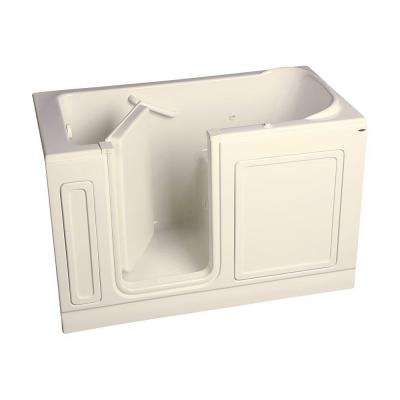 Acrylic Standard Series 60 in. x 32 in. Left Hand Walk-In Whirlpool Tub in Linen