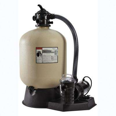 19 in. SD40 Sand Dollar Sand System with 1.5 HP 2 Speed Dynamo Pump