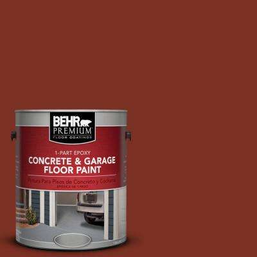 1 gal. #SC-330 Redwood 1-Part Epoxy Concrete and Garage Floor Paint