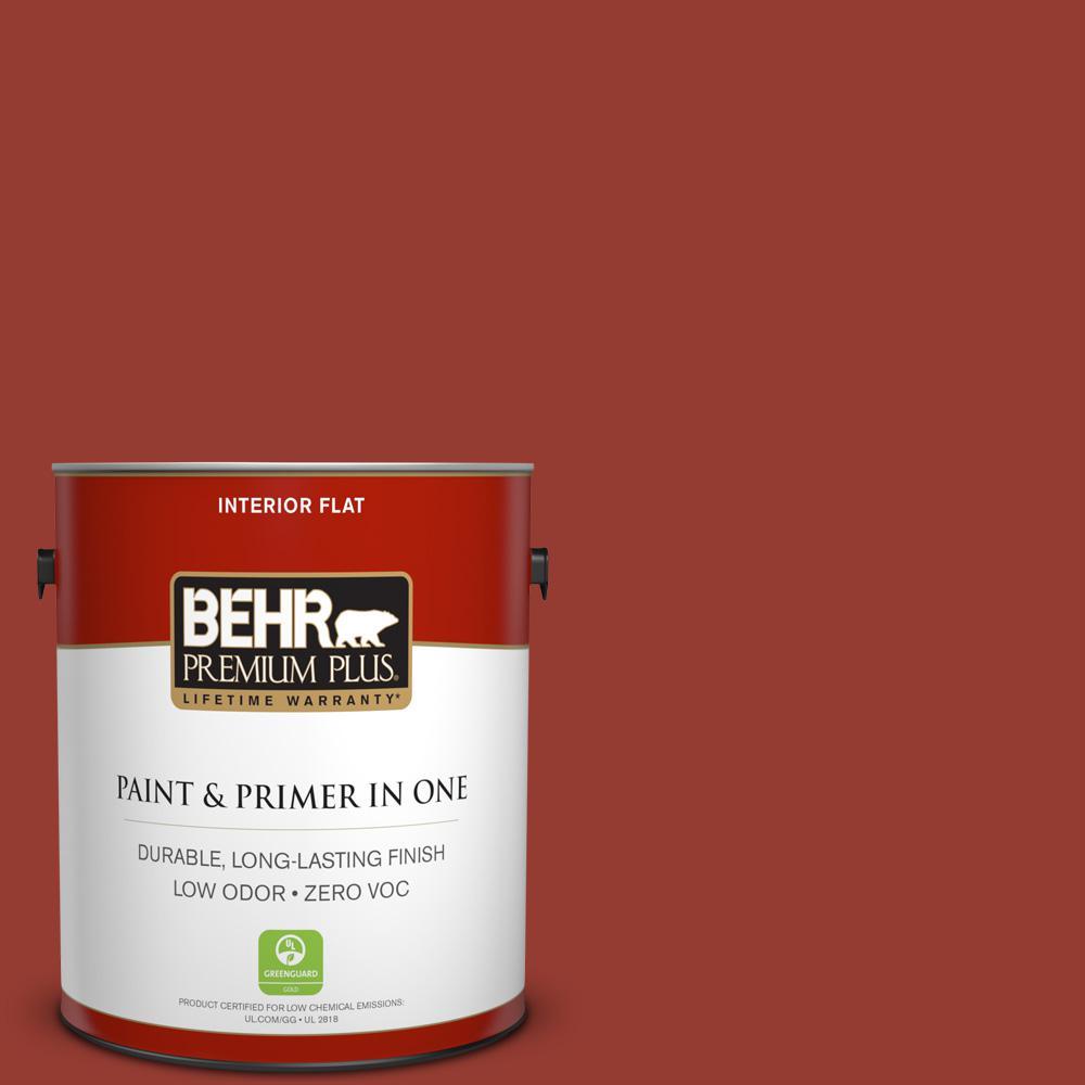 1 gal. #PPU2-17 Morocco Red Zero VOC Flat Interior Paint