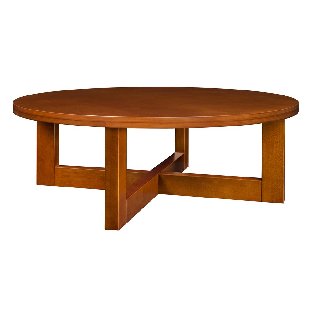 Alaterre furniture shaker cottage cherry storage coffee table asca1160 the home depot Coffee table cherry