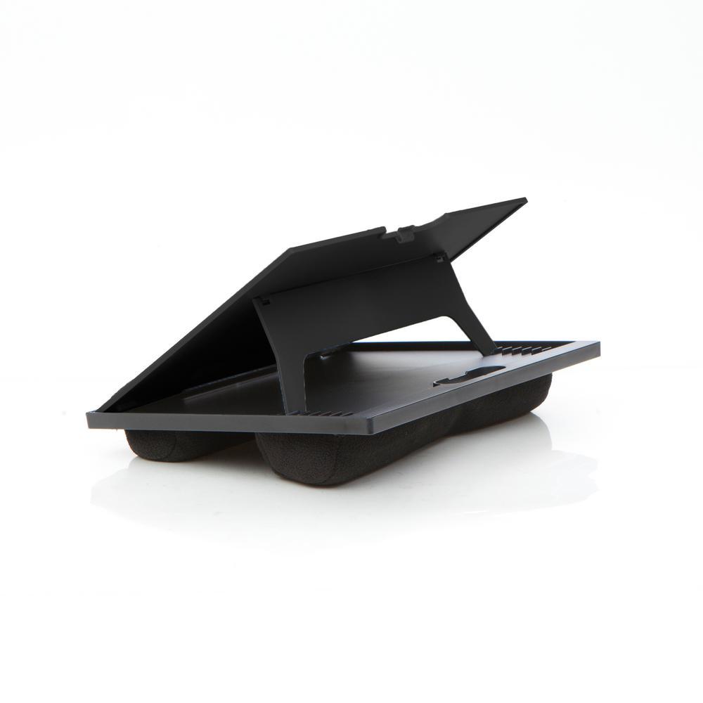 Plastic Adjustable 8-Position Lap Top Desk, Black
