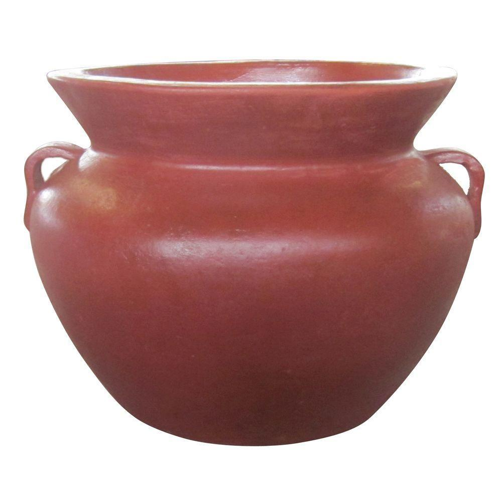 21 in. Dia Red Clay Smooth Handle Pot-RCT-310-R - The Home Depot