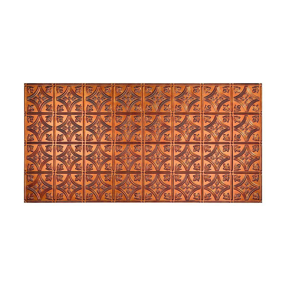 Fasade Traditional 1 2 Ft X 4 Ft Glue Up Ceiling Tile