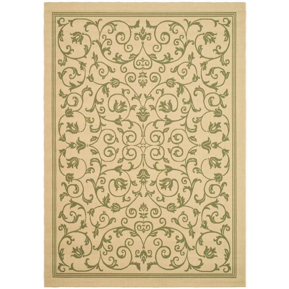 Courtyard Natural/Olive 5 ft. 3 in. x 7 ft. 7 in.