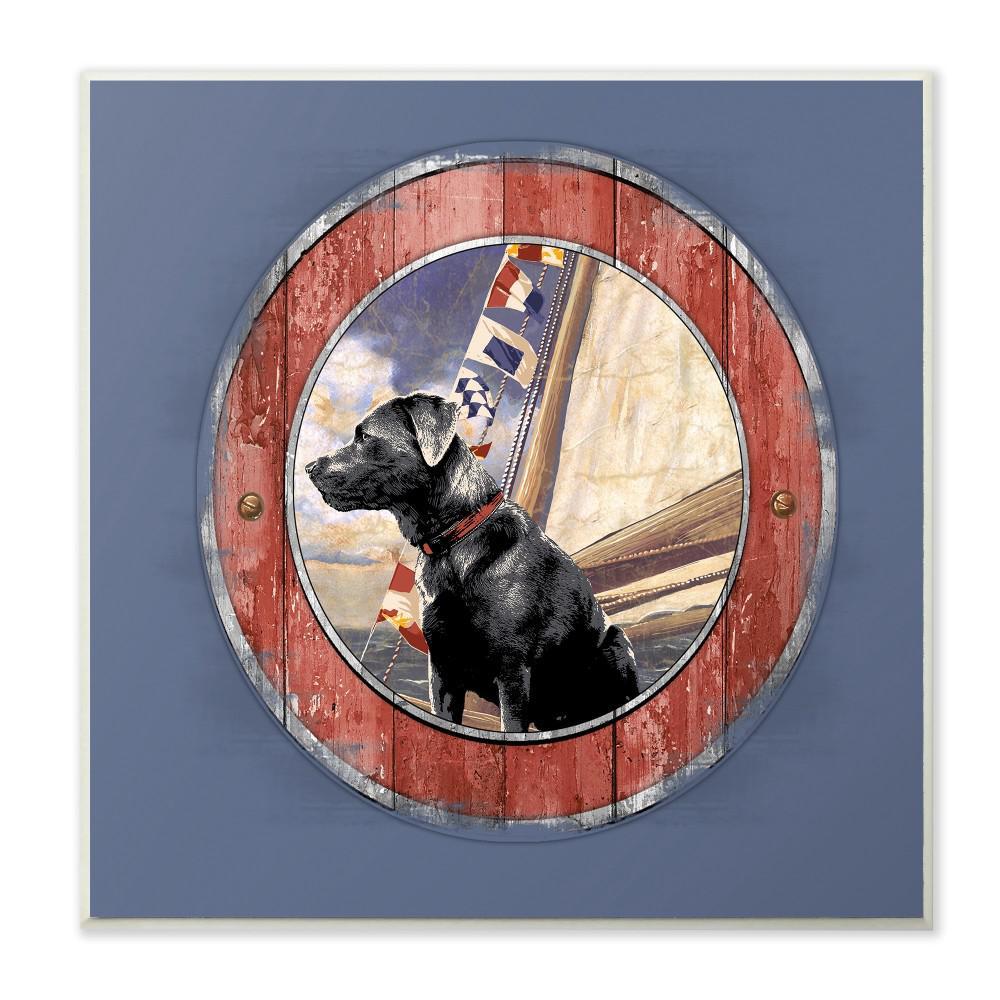 """12 in. x 12 in. """"Seafaring Dog"""" by Jim Baldwin Printed Wood Wall Art"""