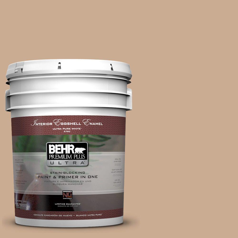 BEHR Premium Plus Ultra 5-gal. #N250-3 Pottery Wheel Eggshell Enamel Interior Paint