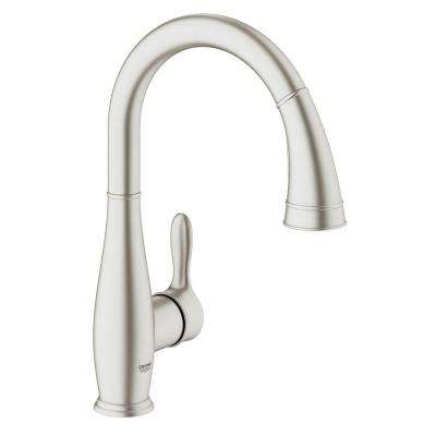 Parkfield Single-Handle Pull-Down Sprayer Kitchen Faucet with Dual Spray in SuperSteel InfinityFinish