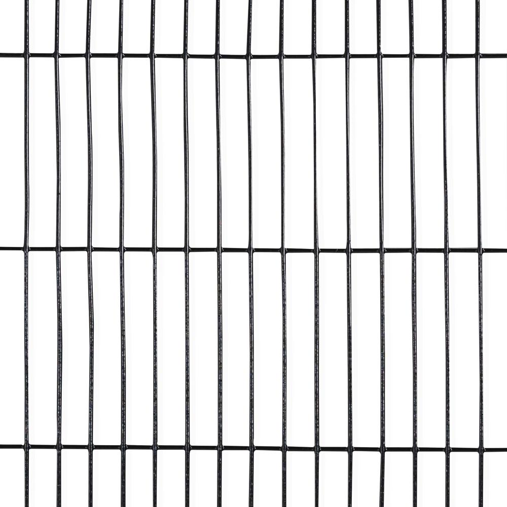 16 Gauge Black Vinyl Coated Welded Wire Fence With Mesh Size 1 2 In X 3 In