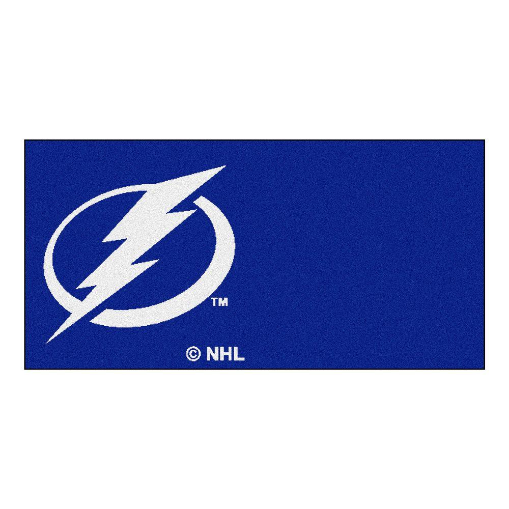 FANMATS NHL - Tampa Bay Lightning Blue Pattern 18 in. x 18 in. Carpet Tile (20 Tiles/Case)