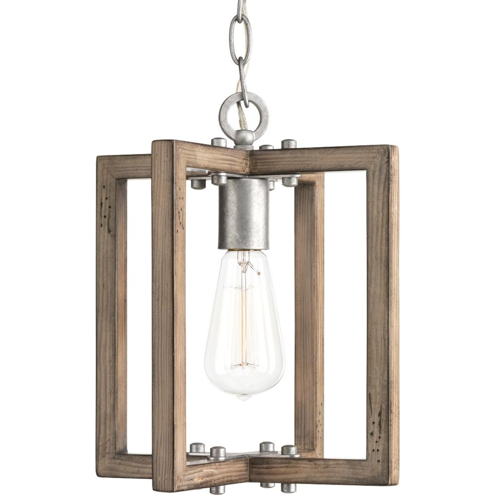 Progress Lighting Turnbury 1 Light Gray Galvanized Mini Pendant