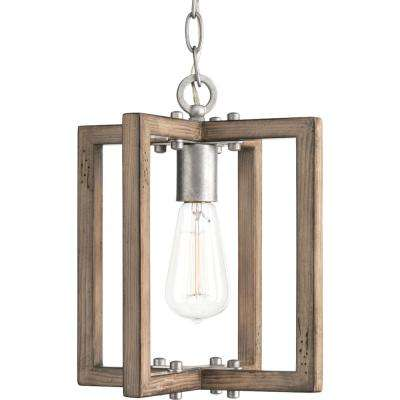 Turnbury 1-Light Gray Galvanized Mini Pendant