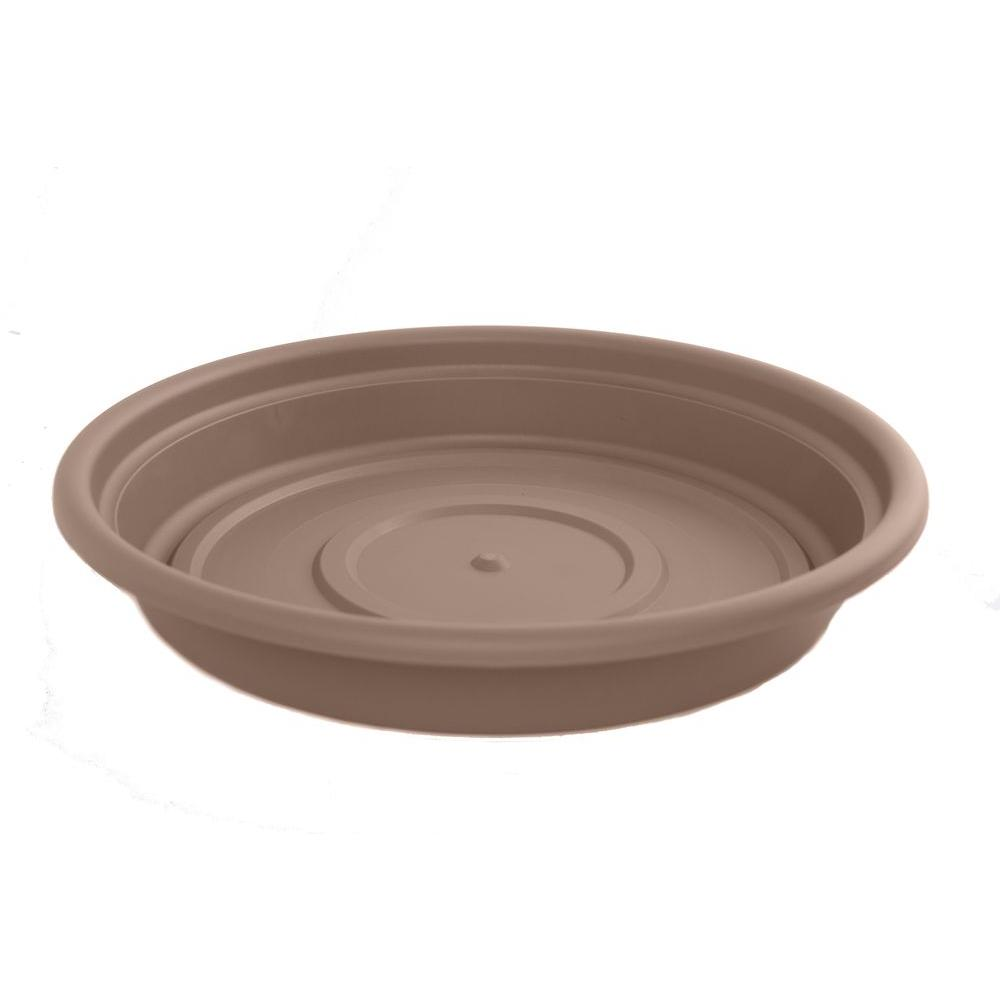 Bloem 6 in. Curated Dura Cotta Plastic Saucer